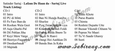 Satinder Sartaj Lafzan De Haan Da Live 2012 Out Now