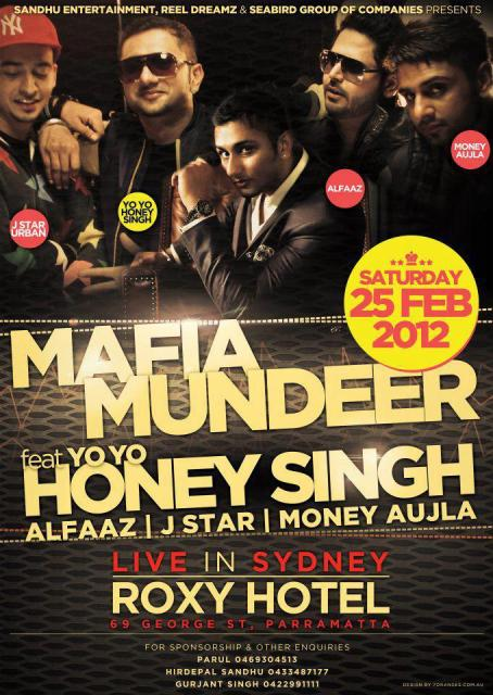 Sydney 25 Feb. 2012 - Honey Singh - Mafia Mundeer