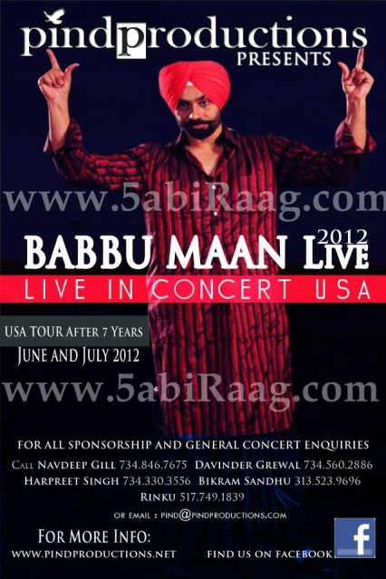 Babbu Maan Live 2012 - USA - Latest News