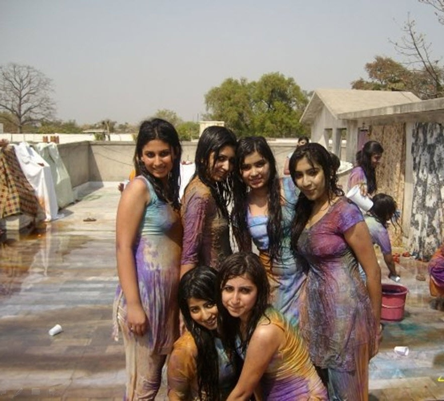 Holi Hot Wet Girls Pictures 2014  5Abi Songs,Latest -3910