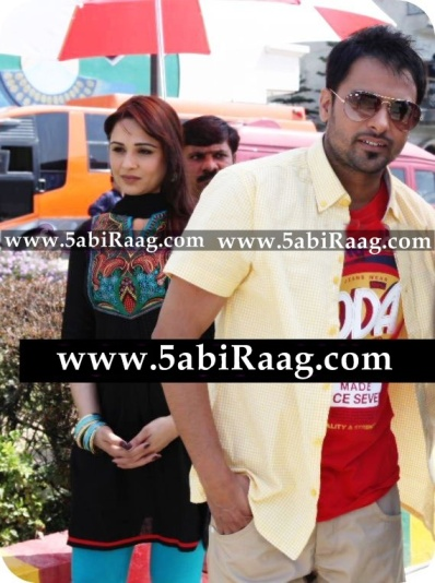 Mandy Takhar With Amrinder Gill HD Wallpaper