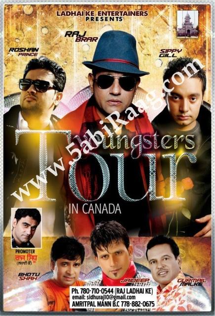 Roshan Prince, Raj Brar, Sippy Gill - Canada Tour 2012