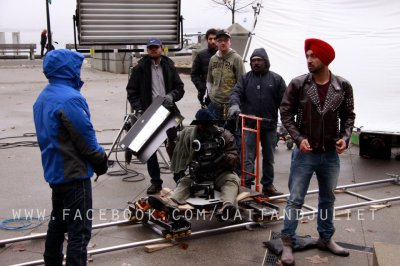 Shooting Scene Of Jatt and Juliet Punjabi Movie In Canada