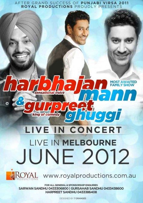Harbhajan Mann and Gurpreet Ghuggi Australia Tour 2012 Albums