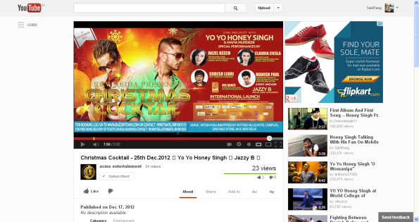 1Christmas Cocktail - 25th Dec.2012 - Yo Yo Honey Singh - Jazzy B - - YouTube