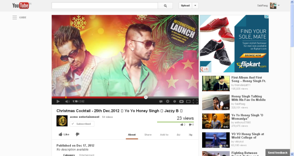 Christmas Cocktail - 25th Dec.2012 - Yo Yo Honey Singh - Jazzy B - - YouTube