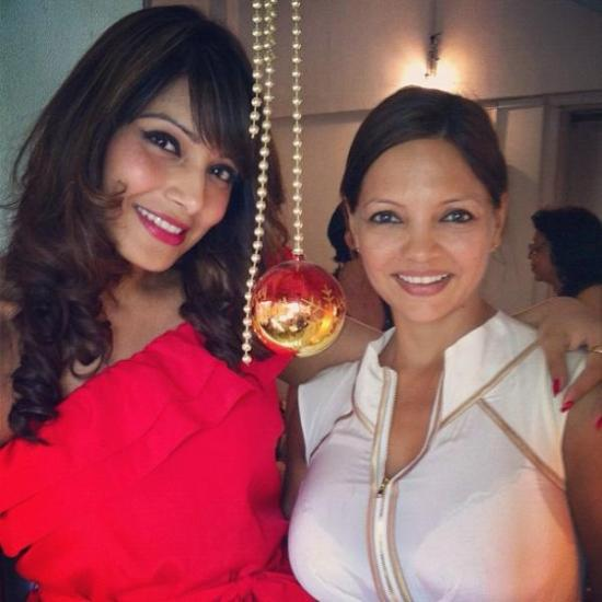Bipasha Basu With Hot Lady At Christmas lunch