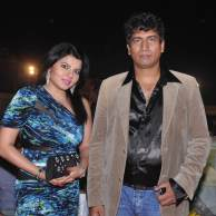 Shradha-Sharma-with-Producer-Satish-Reddy-at-Lohri-Di-Raat