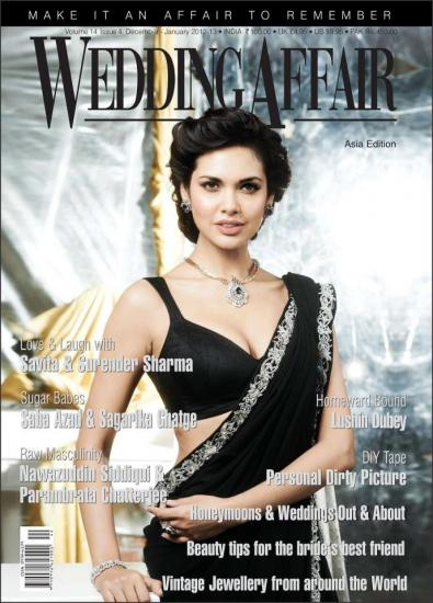 Esha Gupta On The Cover Of Wedding Affair Magazine - Jan 2013