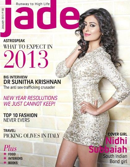 Nidhi Subbaiah Featured On The Cover Of Jade