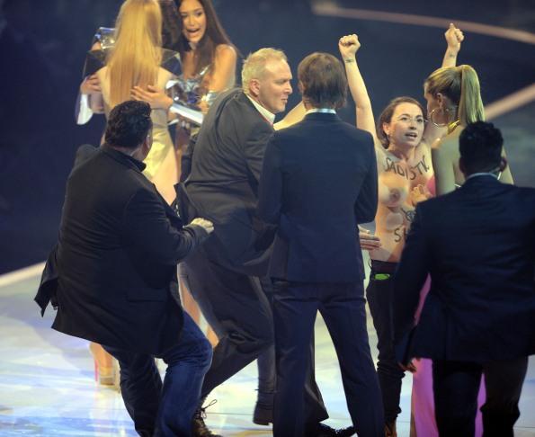 Topless 'Top Model' Protestors Crash Finale On Behalf Of FEMEN (NSFW PHOTOS)