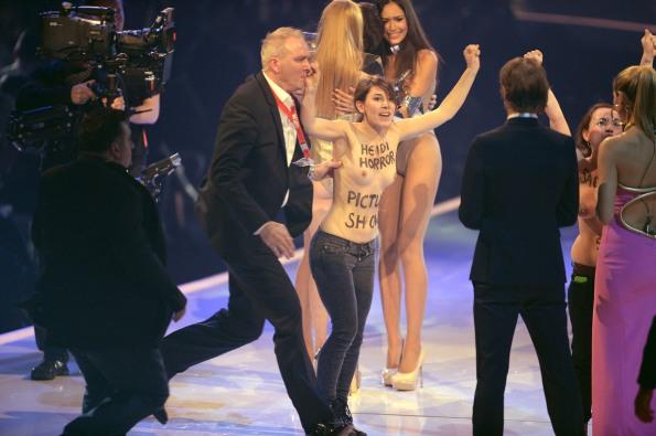Topless 'Top Model' Protestors Crash Finale On Behalf Of FEMEN (NSFW PHOTOS)1