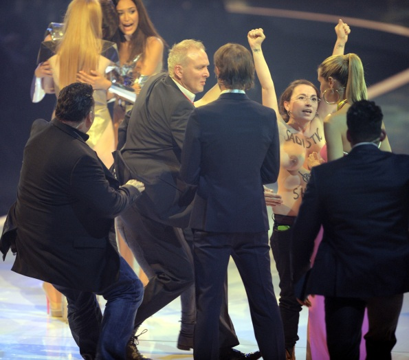 Topless 'Top Model' Protestors Crash Finale On Behalf Of FEMEN (NSFW PHOTOS)4